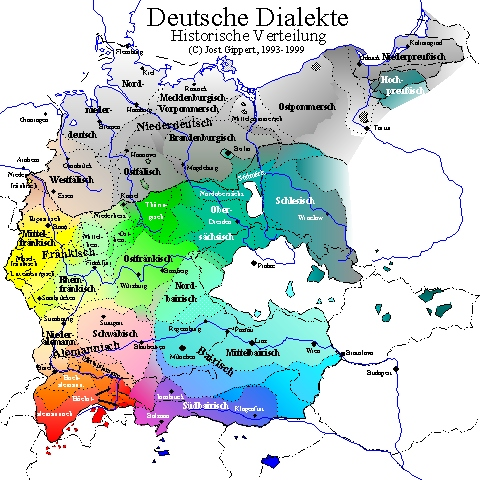 Titus Didactica German Dialects Map Frame