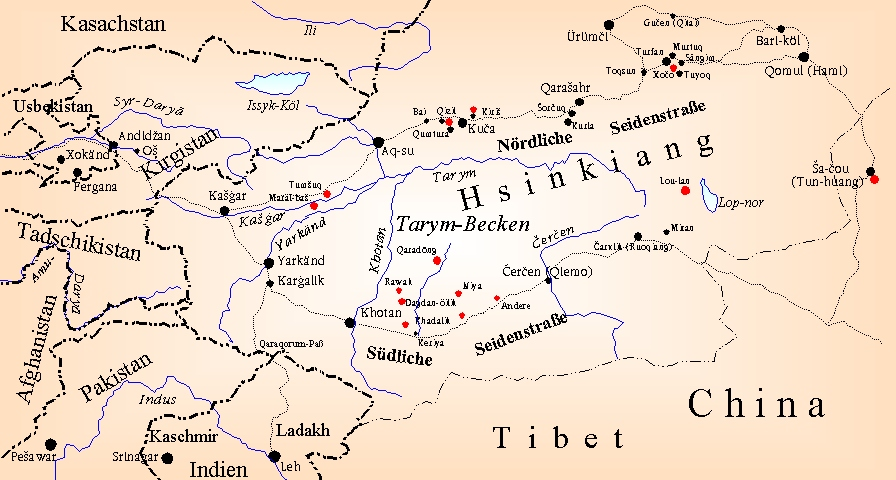TITUS Didactica: East Turkestan (map) .