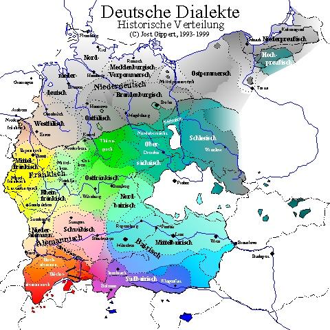 deutsche dialekte karte TITUS Didactica: German Dialects (map) deutsche dialekte karte